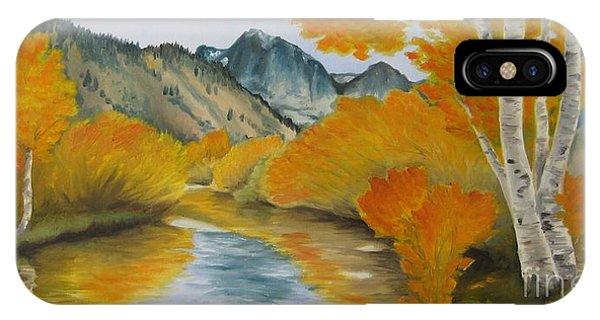 Golden Serenity IPhone Case