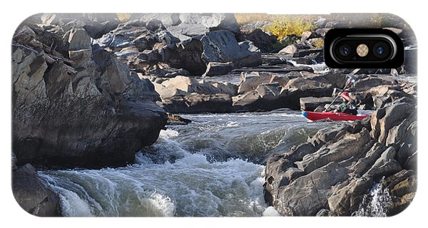 Grace Under Pressure On The Potomac River At Great Falls Park IPhone Case