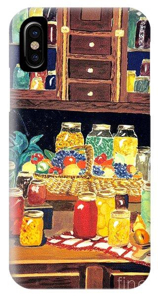 Lid iPhone Case - Granny's Cupboard by Julie Brugh Riffey