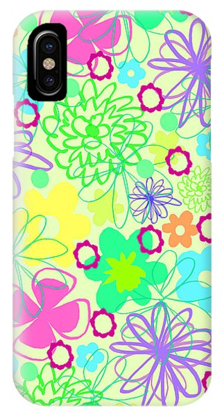 Contemporary Floral iPhone Case - Graphic Flowers by Louisa Knight