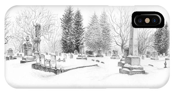 Graveyard In The Snow IPhone Case