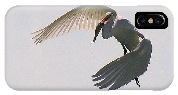 Great Egret Successful Fishing IPhone Case
