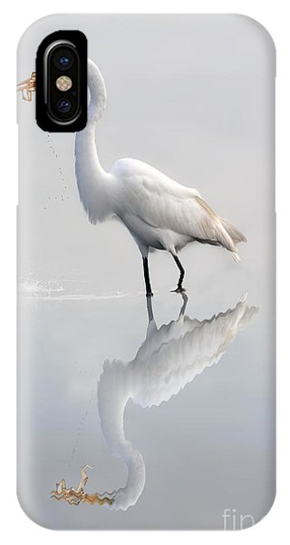 IPhone Case featuring the photograph Great Egret With Lunch by Dan Friend