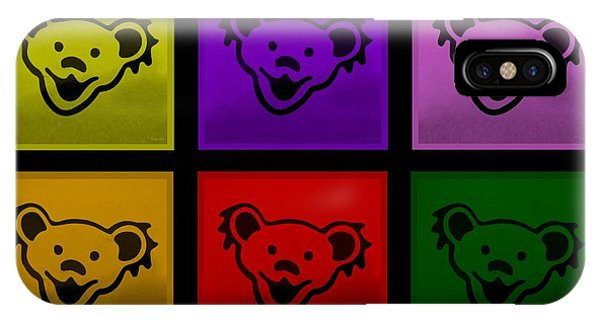 iPhone Case - Greatful Dead Dancing Bears In Multi Colors by Rob Hans