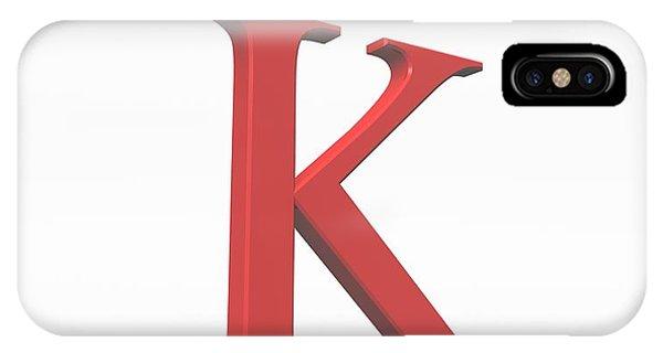 Greek Letter Kappa, Upper Case Phone Case by David Parker