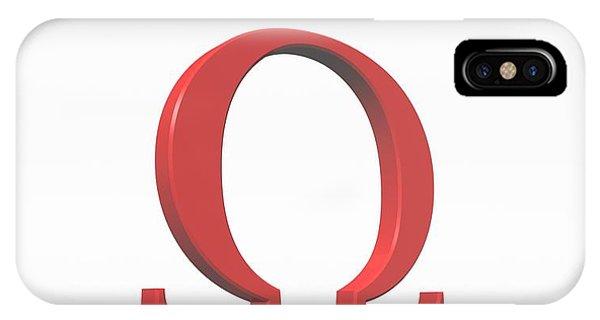 Greek Letter Omega, Upper Case Phone Case by David Parker