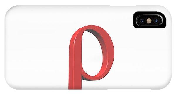 Greek Letter Rho Lower Case Photograph By David Parker