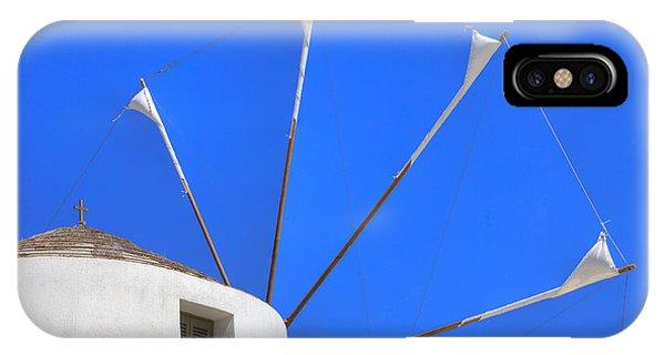Greece iPhone Case - Greek Windmill by Joana Kruse