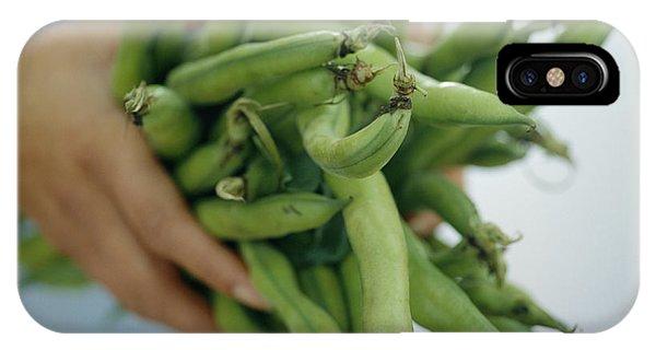 Green Beans Phone Case by David Munns