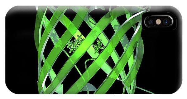 Green Fluorescent Protein Molecule Phone Case by Laguna Design