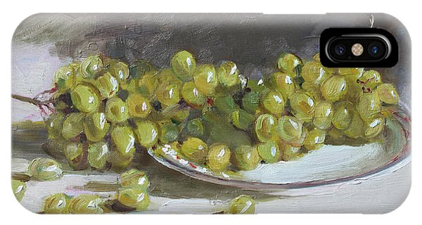 Grape iPhone X Case - Green Grapes  by Ylli Haruni