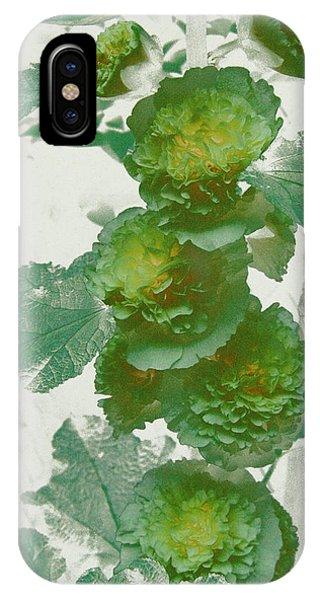 Green Hollyhocks IPhone Case