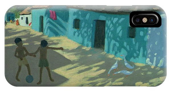 Indian Village iPhone Case - Green House by Andrew Macara