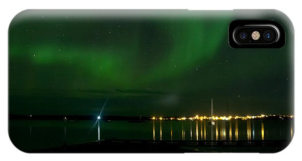 Green Over The Lake IPhone Case