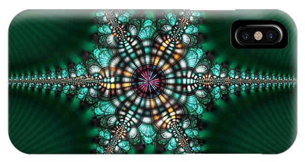 Green Starone Phone Case by Vidka Art