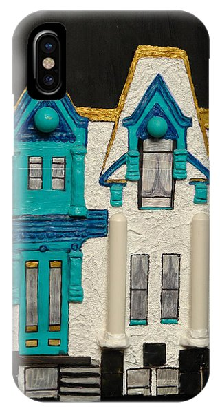 Green Victorian Mansion-montreal IPhone Case