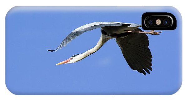 Grey Heron Flying Phone Case by Duncan Shaw