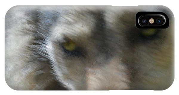 Grey Wolf Painterly IPhone Case