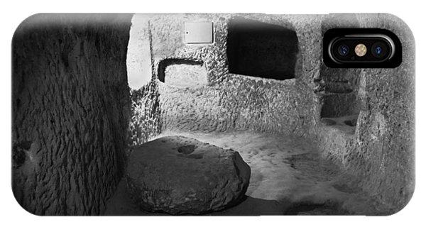 Grindstone At Underground Derinkuyu Phone Case by Kantilal Patel