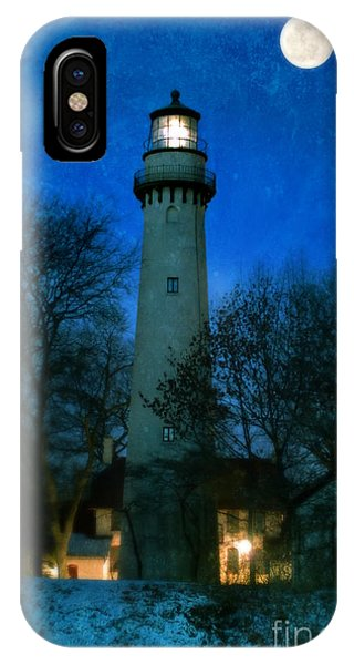 Grosse Point Lighthouse Before Dawn IPhone Case