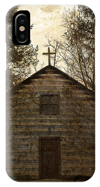 Grungy Hand Hewn Log Chapel IPhone Case