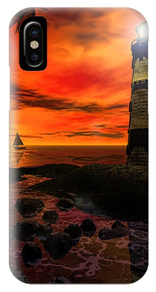 Guiding Light - Lighthouse Art IPhone Case