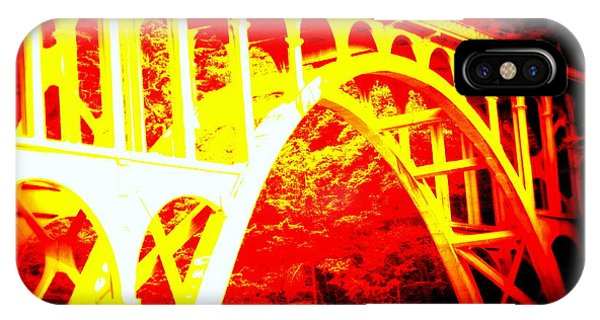 Haceta Head Bridge In Abstract IPhone Case