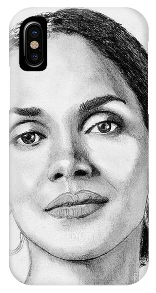 iPhone Case - Halle Berry In 2008 by J McCombie