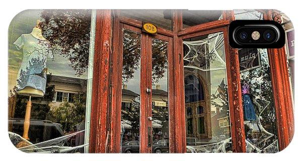 Halloween Storefront - Shepherdstown Wv IPhone Case