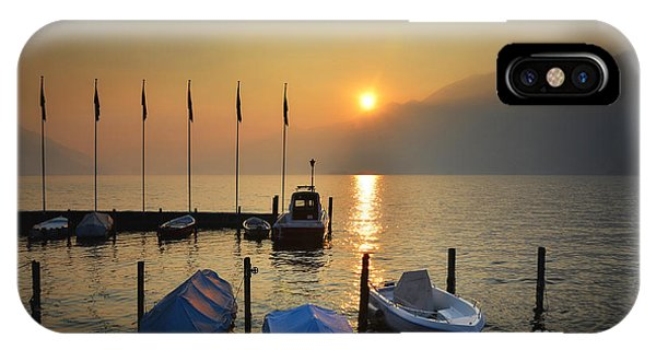 Port Orange iPhone Case - Harbor On A Foggy Lake by Mats Silvan