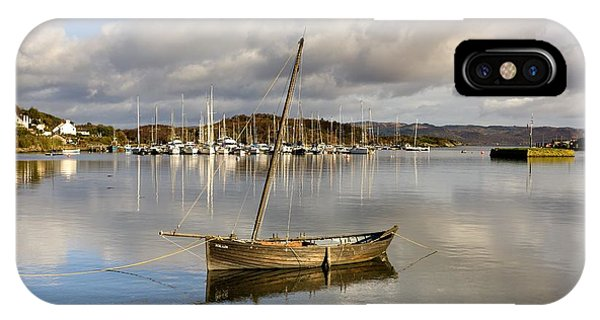 Harbour In Tarbert Scotland, Uk IPhone Case