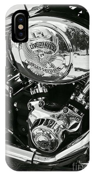 Harley Davidson Bike - Chrome Parts 02 IPhone Case