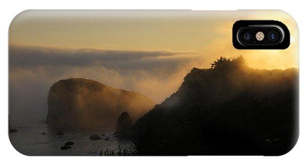Harris Beach Sunset Panorama IPhone Case