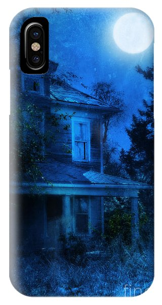 Haunted House Full Moon IPhone Case
