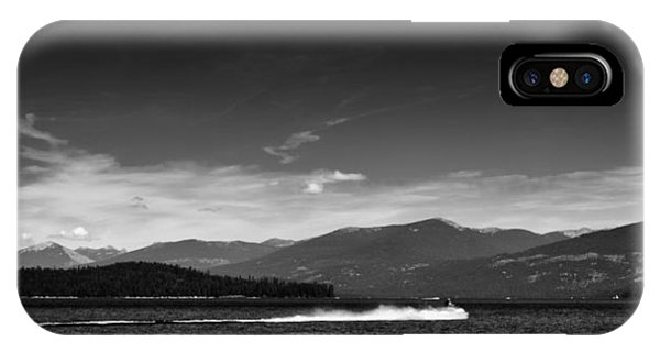 Jet Ski iPhone X Case - Having Fun On Priest Lake by David Patterson