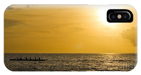 Hawaiian Outrigger Canoe Sunset IPhone Case