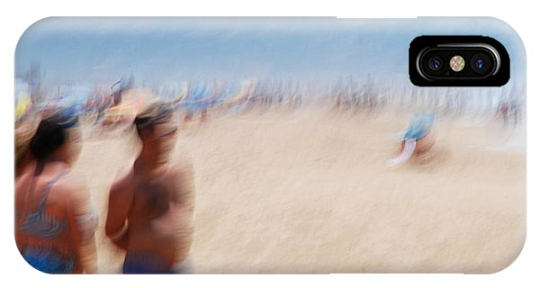 Haze On The Beach Phone Case by Perry Van Munster