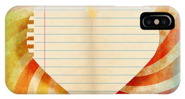 Valentine iPhone Case - Heart Paper Retro Design by Setsiri Silapasuwanchai