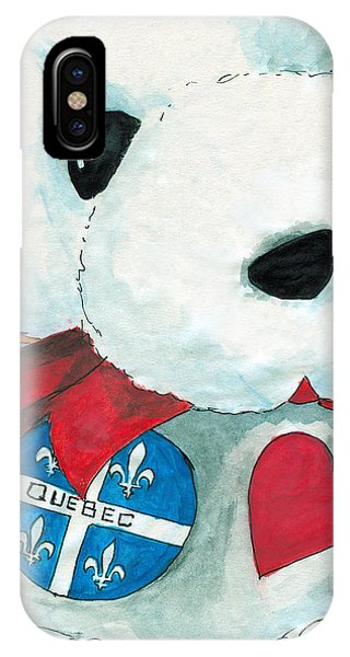 Heart Quebec Bear IPhone Case