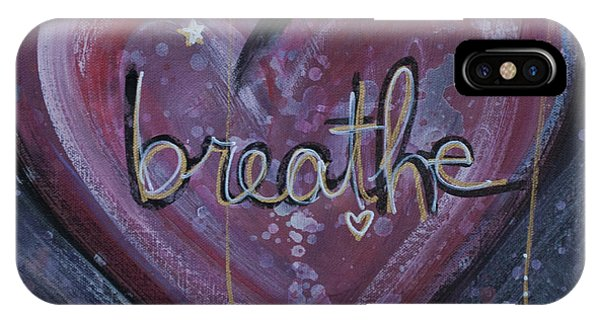 Heart Says Breathe IPhone Case