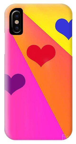 Heartbeams IPhone Case