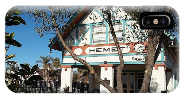 Hemet Museum-old Santa Fe Depot IPhone Case