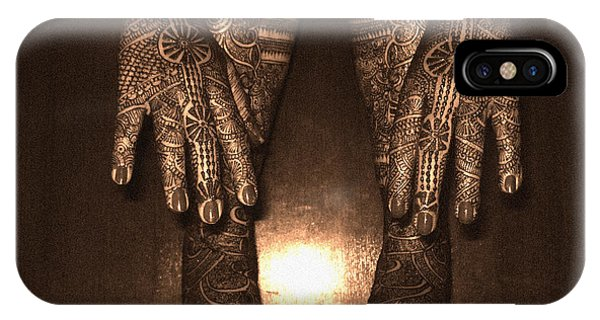 Henna Art On An Indian Bride IPhone Case