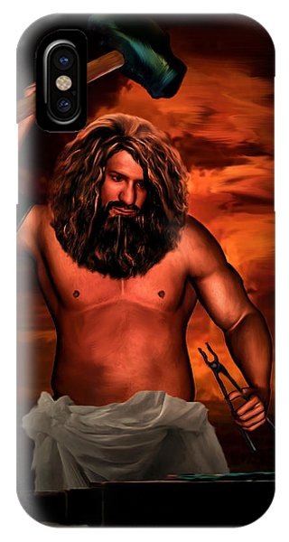 Anvil iPhone Case - Hephaestus by Lourry Legarde
