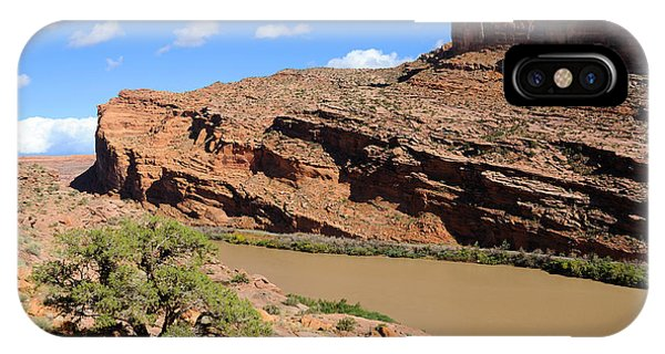 Hiking The Moab Rim IPhone Case