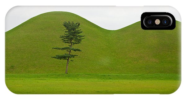Hill Tombs And Tree Korea Phone Case by Gabor Pozsgai