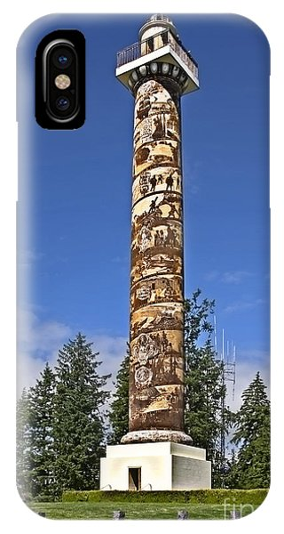 Historic Landmark Of Astoria Oregon Column IPhone Case