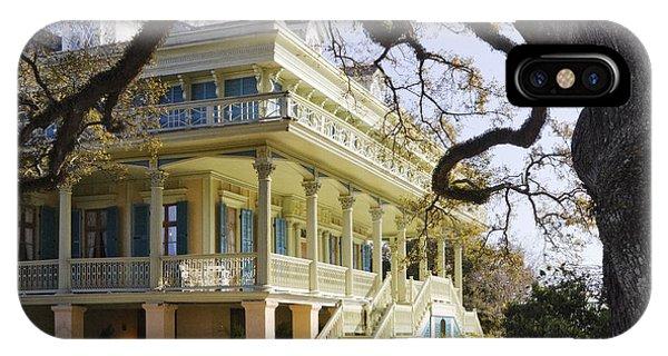 Historic Plantation Manor Home IPhone Case