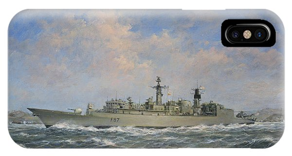 Chatham iPhone Case - H.m.s. Chatham Type 22 - Batch 3 by Richard Willis