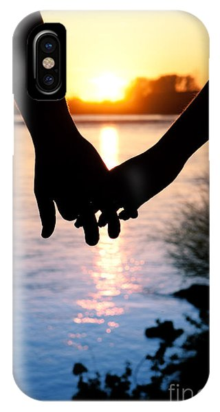 Holding Hands Silhouette IPhone Case